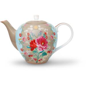 Pip Studio Rose Teapot - Khaki