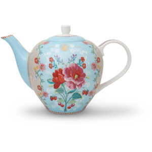Pip Studio Rose Teapot - Blue