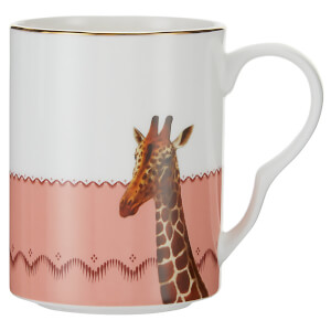 Yvonne Ellen Giraffe and Bee Mug - Pink