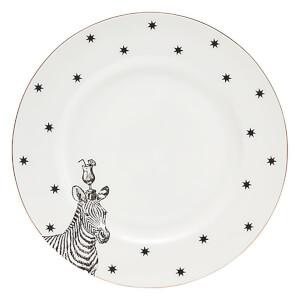 Yvonne Ellen Zebra Dinner Plate - White