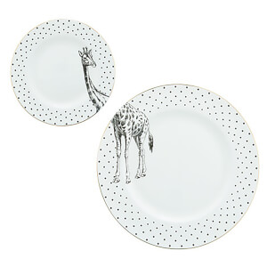 Yvonne Ellen Giraffe Plates - White (Set of 2)