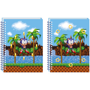 Sonic The Hedgehog Lentikular Notizbuch