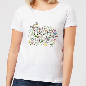A Little Cloth Rabbit I'd Rather Wear Flowers In My Hair Than Diamonds Around My Neck Women's T-Shirt - White
