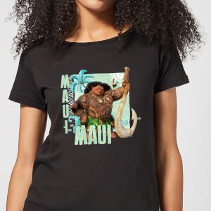 T-Shirt Femme Maui Vaiana, la Légende du bout du monde Disney - Noir