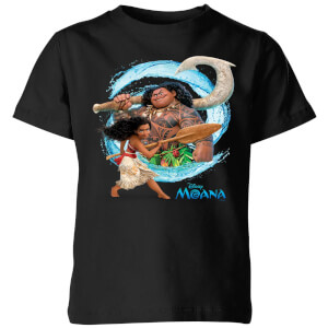 Moana Wave Kinder T-shirt - Zwart