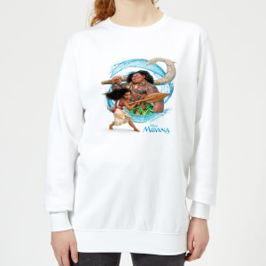 Moana Wave Women's Sweatshirt - White