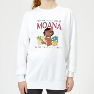 Moana Born In The Ocean Women's Sweatshirt - White