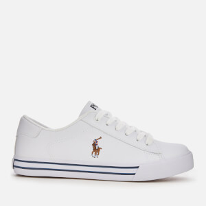 Polo Ralph Lauren Kids' Easten Tumbled Leather Trainers - White/Multi