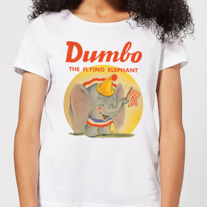 Dumbo Flying Elephant Women's T-Shirt - White