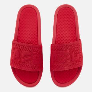 Athletic Propulsion Labs Men's Big Logo TechLoom Slide Sandals - Red