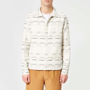 Folk Men's Ratio Shirt Jacket - Ecru Static Check