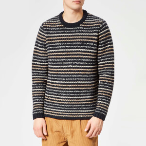 Folk Men's Cryptic Crew Neck Jumper - Deep Navy