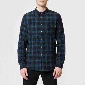 PS Paul Smith Men's Checked Long Sleeved Shirt - Black