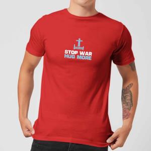 Plain Lazy Stop War Hug More Men's T-Shirt - Red