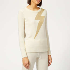 Madeleine Thompson Women's Greve Pullover Jumper - Cream/Gold