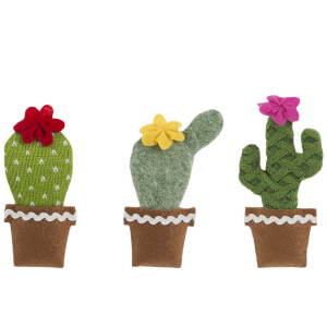 Sass & Belle Set of 3 Hanging Cactus Decorations