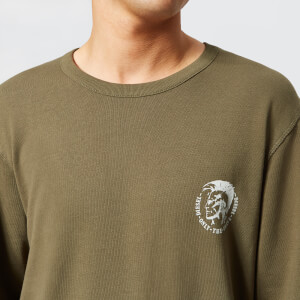 Diesel Men's Willy Sweatshirt - Khaki: Image 4