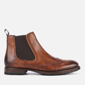 Ted Baker Men's Camheri Leather Brogue Chelsea Boots - Tan