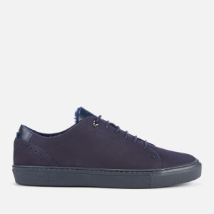 Ted Baker Men's Dahvid Nubuck Cupsole Trainers - Dark Blue