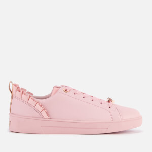 Ted Baker Women's Astrina Leather Low Top Trainers - Mink Pink