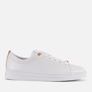 Ted Baker Women's Gielli Leather Cupsole Trainers - White