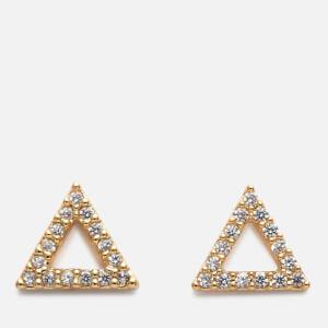 c3a6d6389 Astrid & Miyu Women's Tuxedo Triangle Earrings - Gold