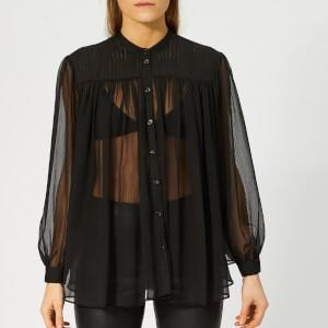 Emporio Armani Women's Sheer Blouse - Black