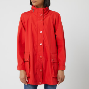 Emporio Armani Women's Waterproof Mid Length Jacket - Red