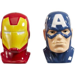 Marvel: Captain America & Iron Man Salt & Pepper Shakers
