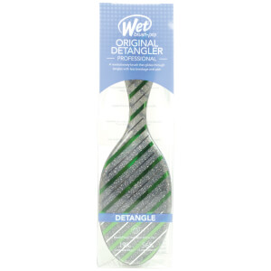 WetBrush Holiday Glamour Hair Brush - Green Stripe