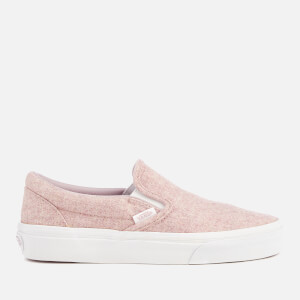 Vans Women's Classic Slip-On Flannel Trainers - Violet Ice/True White