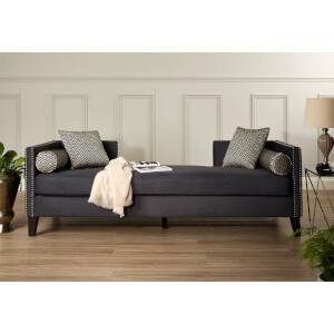 Fifty Five South Reginy 3 Seat Day Bed Sofa - Dark Grey Velvet