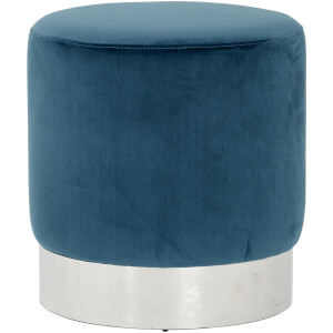 Fifty Five South Vogue Round Stool - Teal Velvet