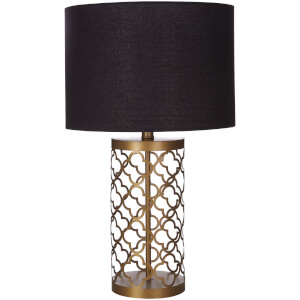 Fifty Five South Lexis Table Lamp - Copper/Black