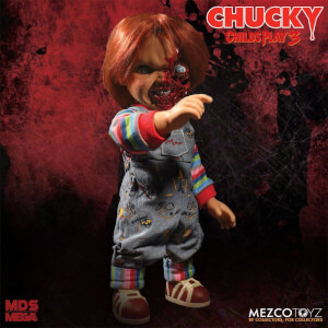 Mezco Child's Play Pizza Face Chucky Talking Mega-Scale 15 Inch Doll