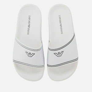 Emporio Armani Women's Slide Sandals - White/Black