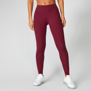 Leggings Power - Rosso scuro
