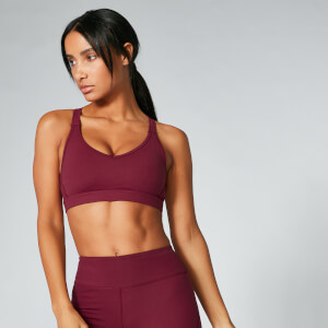 Brassière de sport Power Mesh  - Oxblood