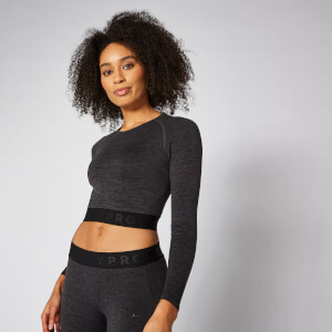 Crop top Inspire sans couture - Noir