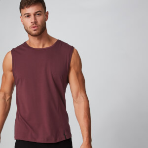 Luxe Classic Sleeveless T-Shirt - Oxblood