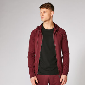 Form ZIp Up pulover s kapuco - Temno rdeč