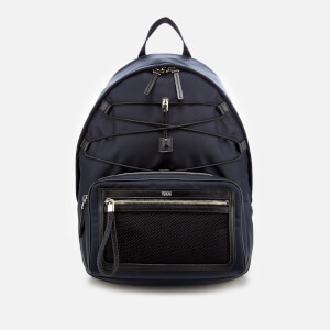 Tod's Men's Mix Fabric Backpack - Navy/Black