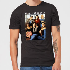Friends Vintage Character Shot Men's T-Shirt - Black