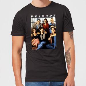 Friends Vintage Character Shot Herren T-Shirt - Schwarz