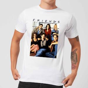 Friends Vintage Character Shot Herren T-Shirt - Weiß