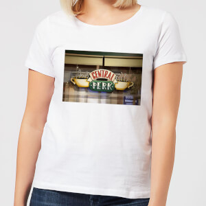 Friends Central Perk Coffee Sign Women's T-Shirt - White