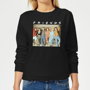 Friends Retro Character Shot Women's Sweatshirt - Black