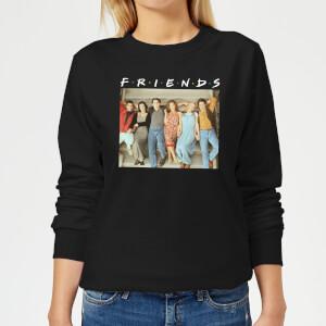 Friends Retro Character Shot Damen Pullover - Schwarz