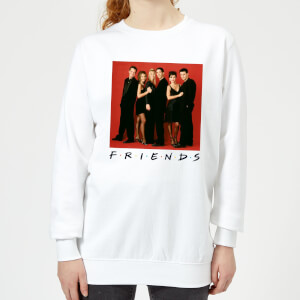 Friends Character Pose Damen Pullover - Weiß
