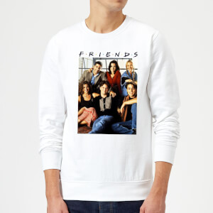 Friends Vintage Character Shot Sweatshirt - White